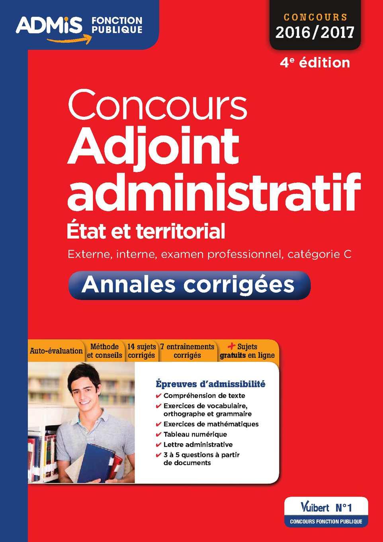 Calaméo - 9782311201444 - Concours Adjoint Administratif