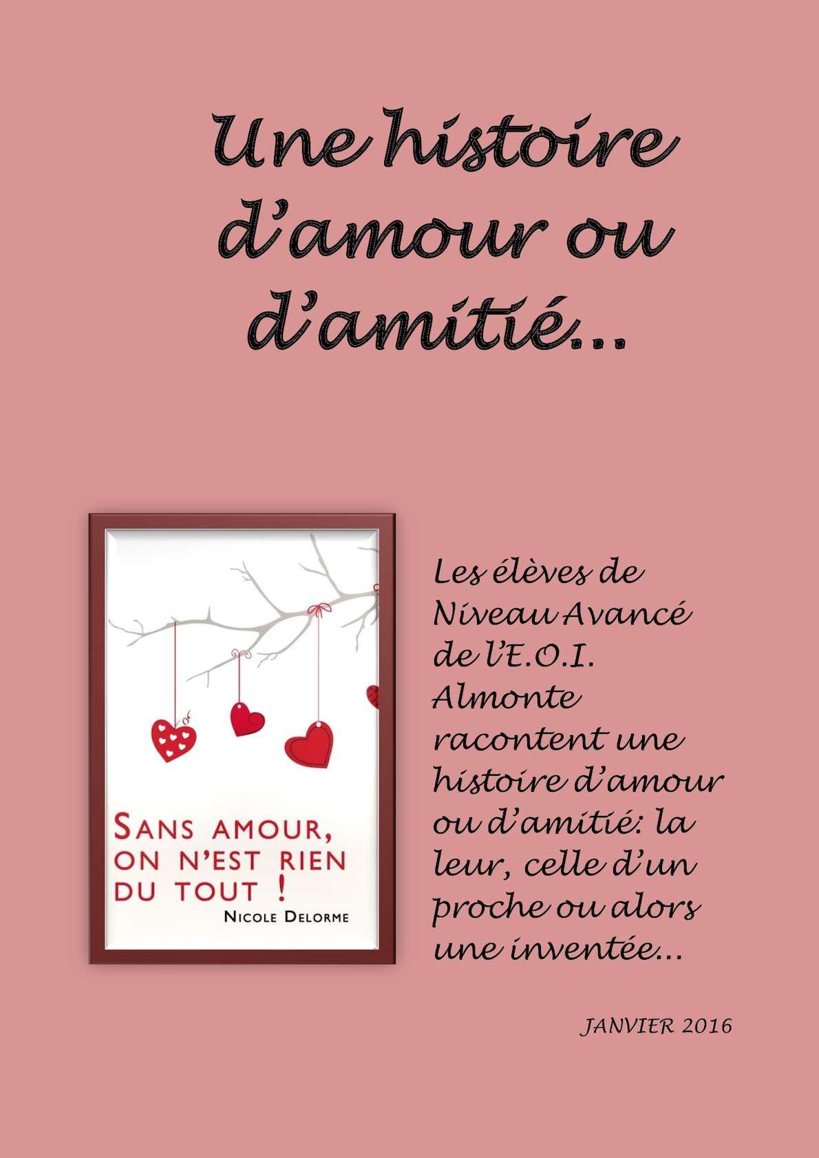 On Est Rien Sans Amour : amour, Calaméo, Recueil, D'histoires, D'amour, D'amitié