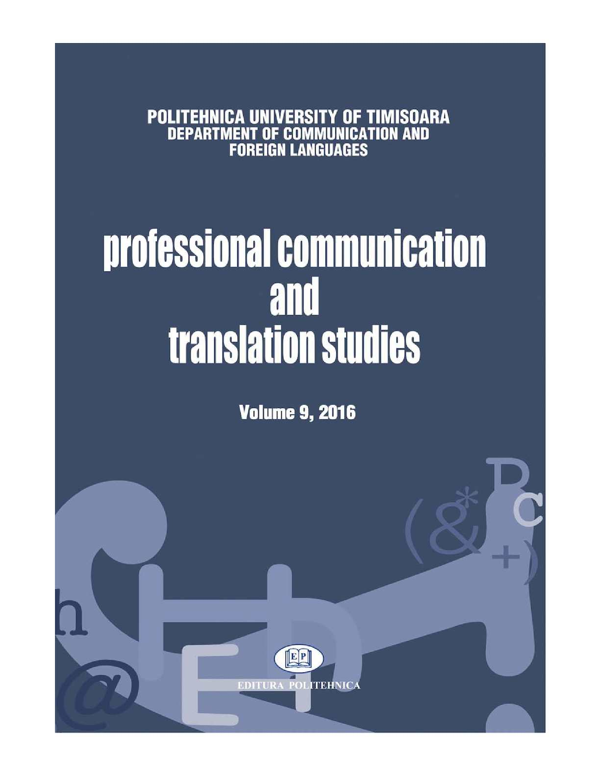 Outdoor Teppich Pro Idee Calaméo Professional Communication And Translation Studies 9 2016