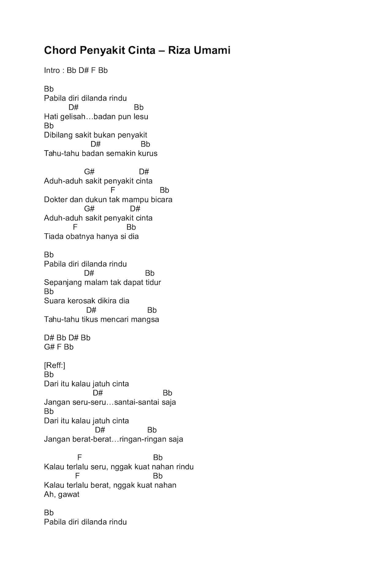 Chord Gitar dan Lirik Steven & Coconut Treez - Lagu Santai