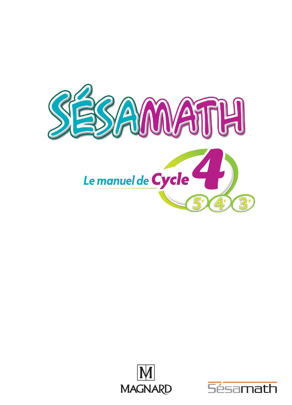 Correction Exercice De Math 4eme Sesamath : correction, exercice, sesamath, Calaméo, Sésamath, Manuel, Cycle