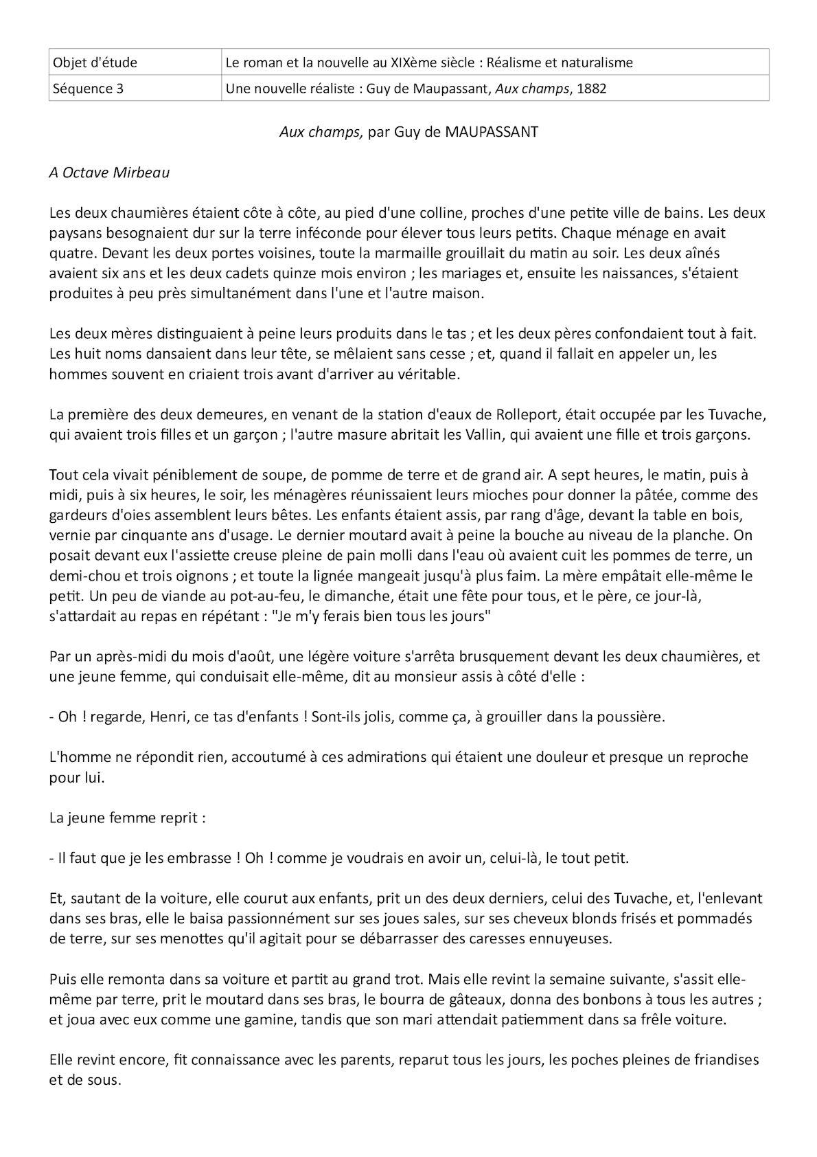 Guy De Maupassant Aux Champs : maupassant, champs, Calaméo, Champs