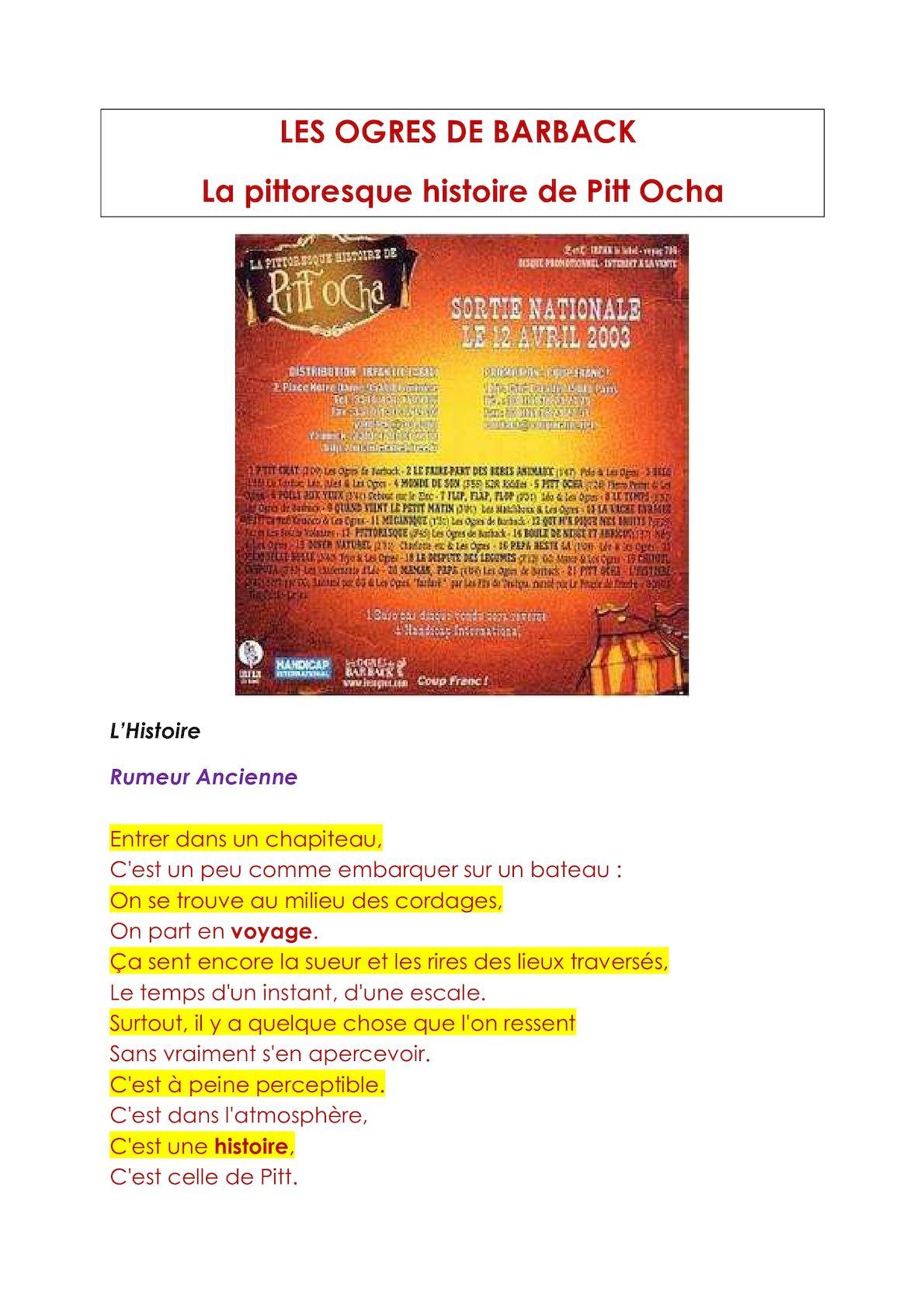 Les Ogres De Barback La Pittoresque Histoire De Pitt'ocha : ogres, barback, pittoresque, histoire, pitt'ocha, Calaméo, Ogres, Barback, Pittoresque, Histoire