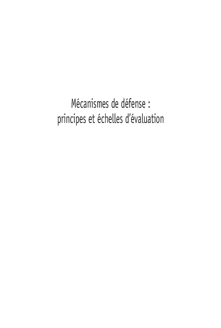 Les 7 Niveaux De Mecanismes De Defense : niveaux, mecanismes, defense, Calaméo, Mécanismes, Défense