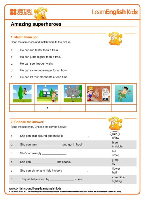 small resolution of Super Hero Math Worksheets   Printable Worksheets and Activities for  Teachers