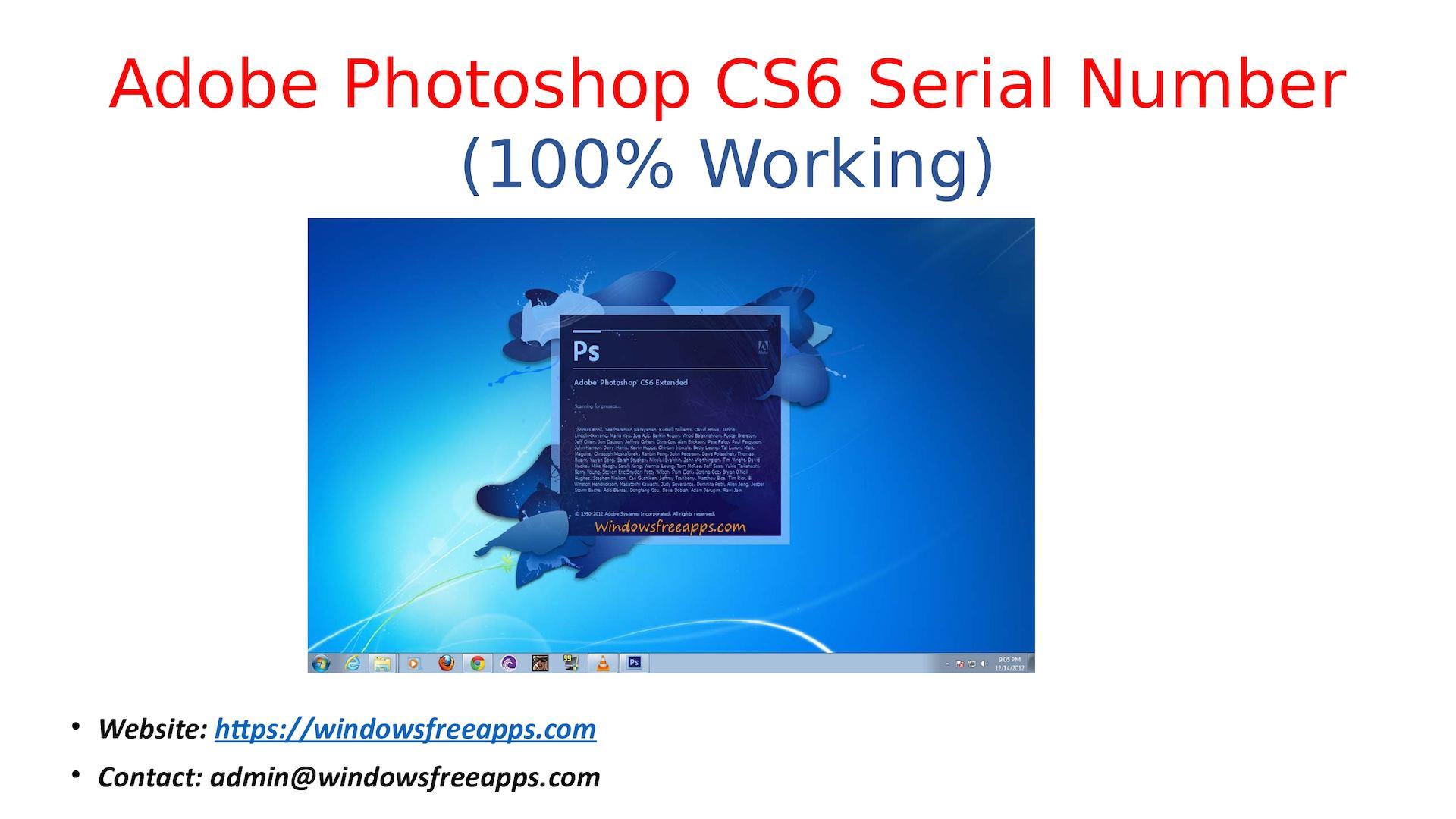 photoshop cs6 serial number