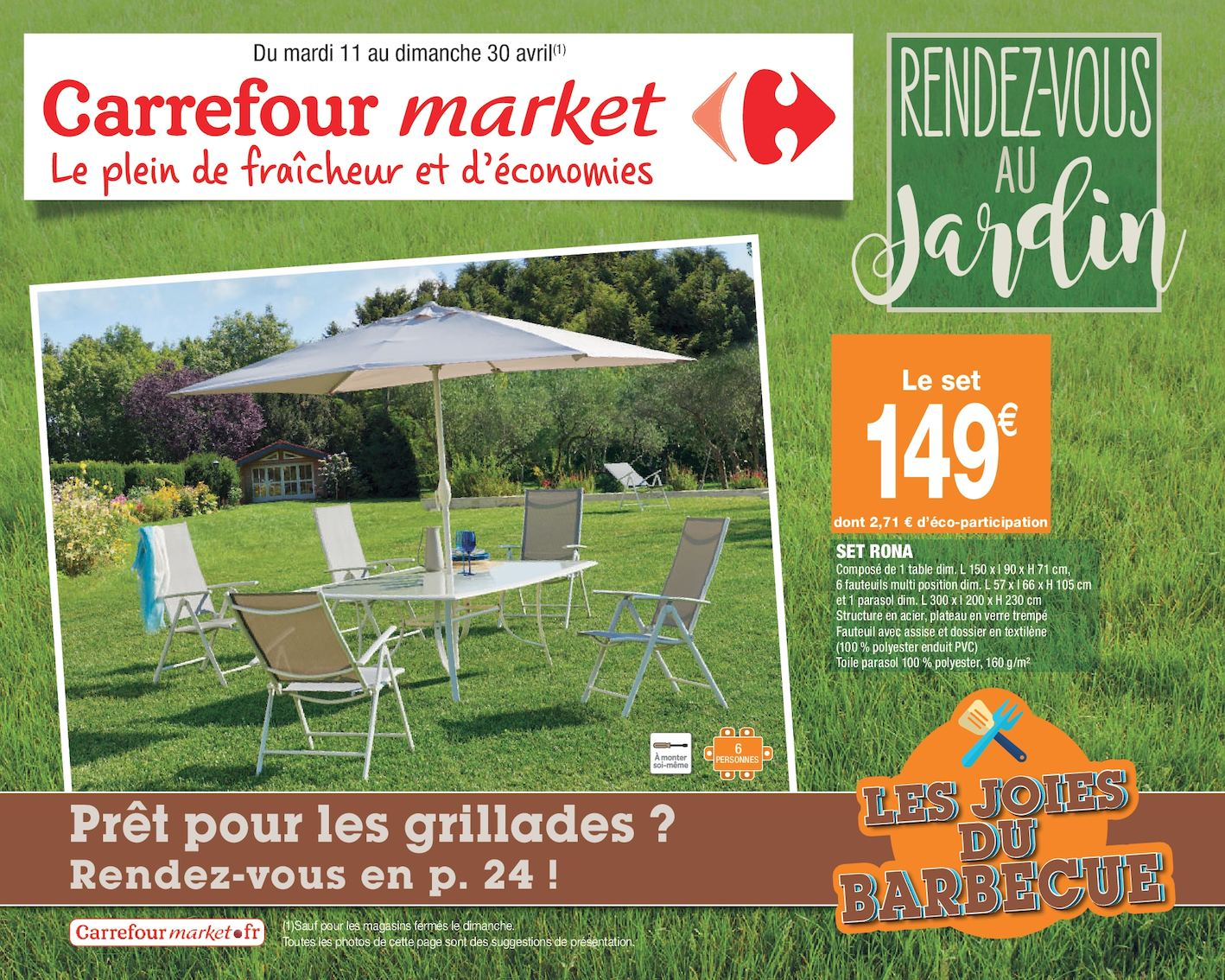 salon de jardin carrefour market the