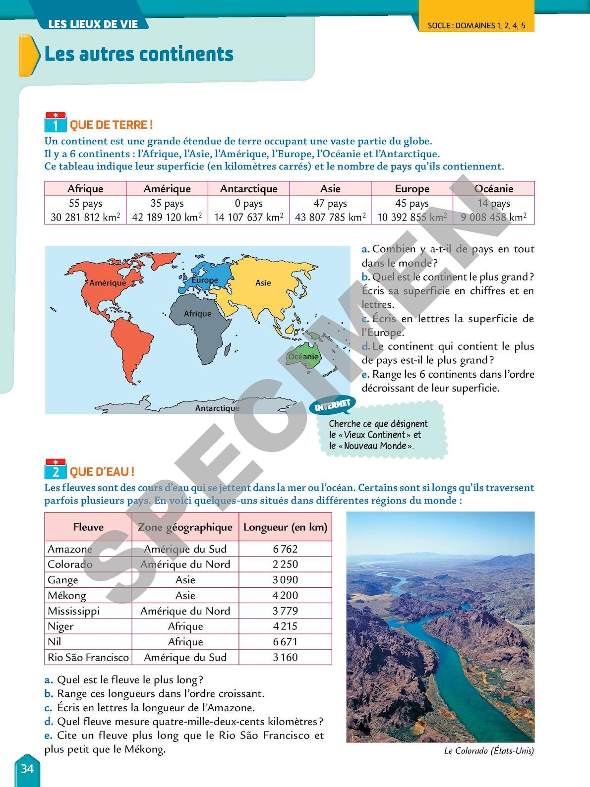 Le Plus Petit Continent Du Monde : petit, continent, monde, Rythme, Maths, Problèmes, Interdisciplinaires, CALAMEO, Downloader