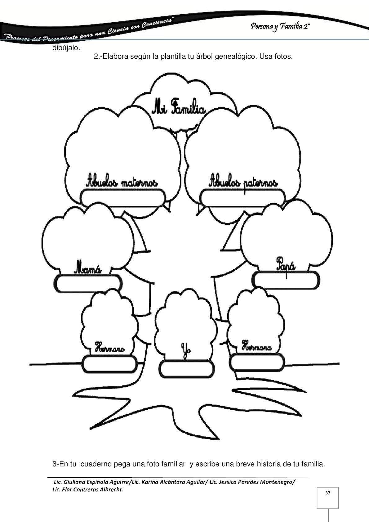 Arbol Genealogico Para Dibujar