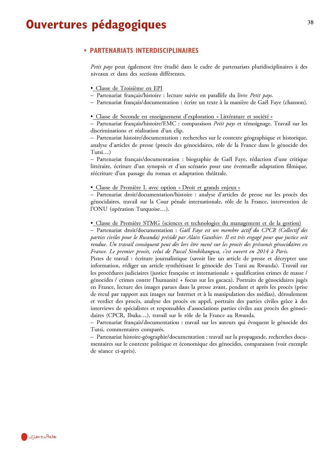 Petit Pays Gael Faye Analyse : petit, analyse, Dossier, Pédagogique, Petit, Gaël, CALAMEO, Downloader