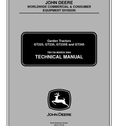calam o john deere gt245 lawn garden tractor service repair manual [ 1154 x 1496 Pixel ]