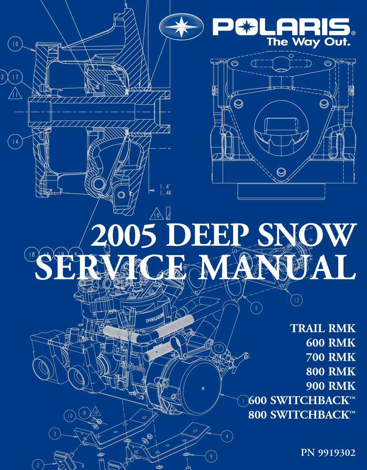 hight resolution of 2005 polaris 900 rmk 151 snowmobile service repair manual