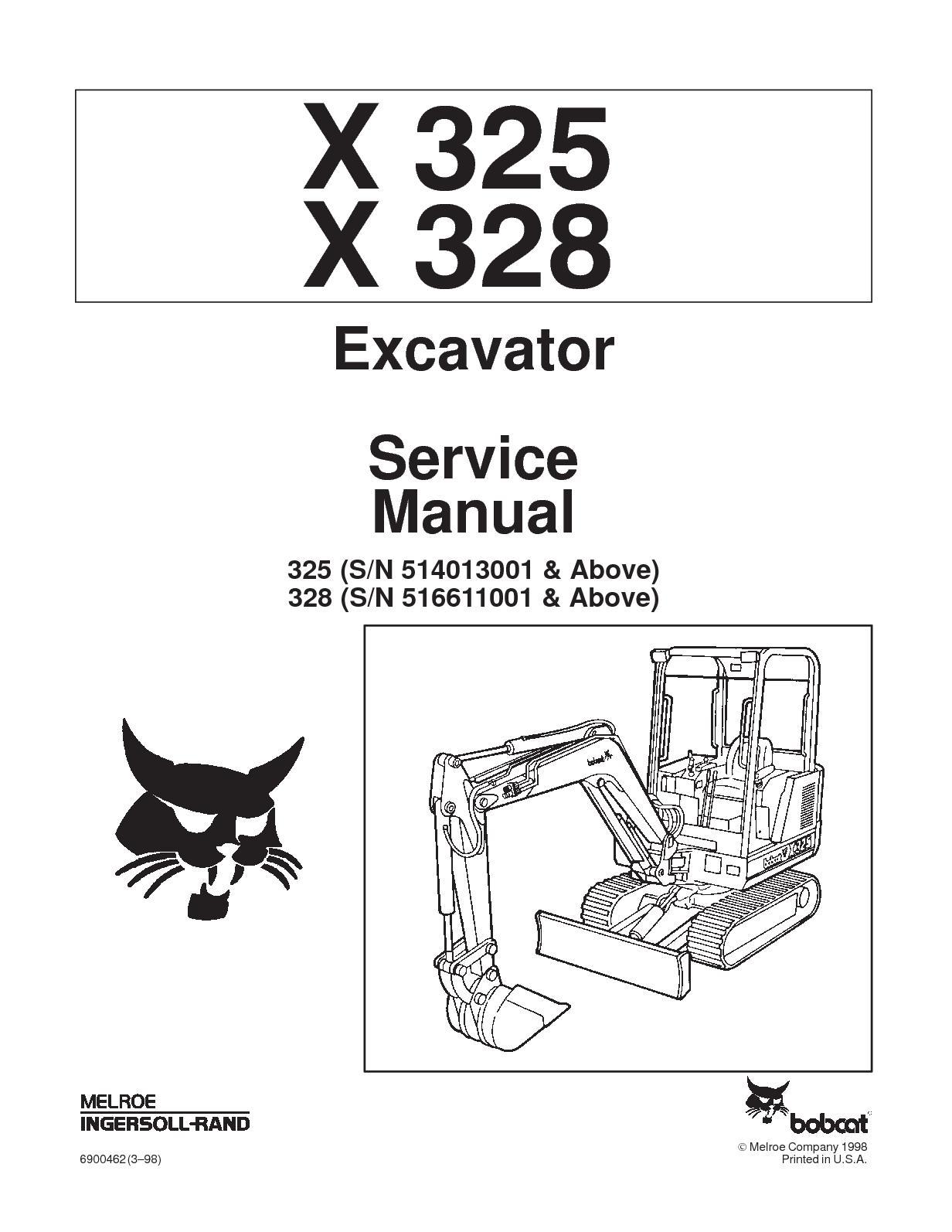 hight resolution of calam o bobcat 325 compact excavator service repair manual sn bobcat 325 parts diagram