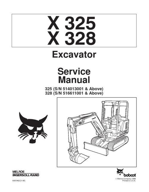 small resolution of calam o bobcat 325 compact excavator service repair manual sn bobcat 325 parts diagram