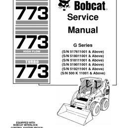 calam o bobcat 773 skid steer loader service repair manual sn 500 k 11001 above [ 1233 x 1595 Pixel ]