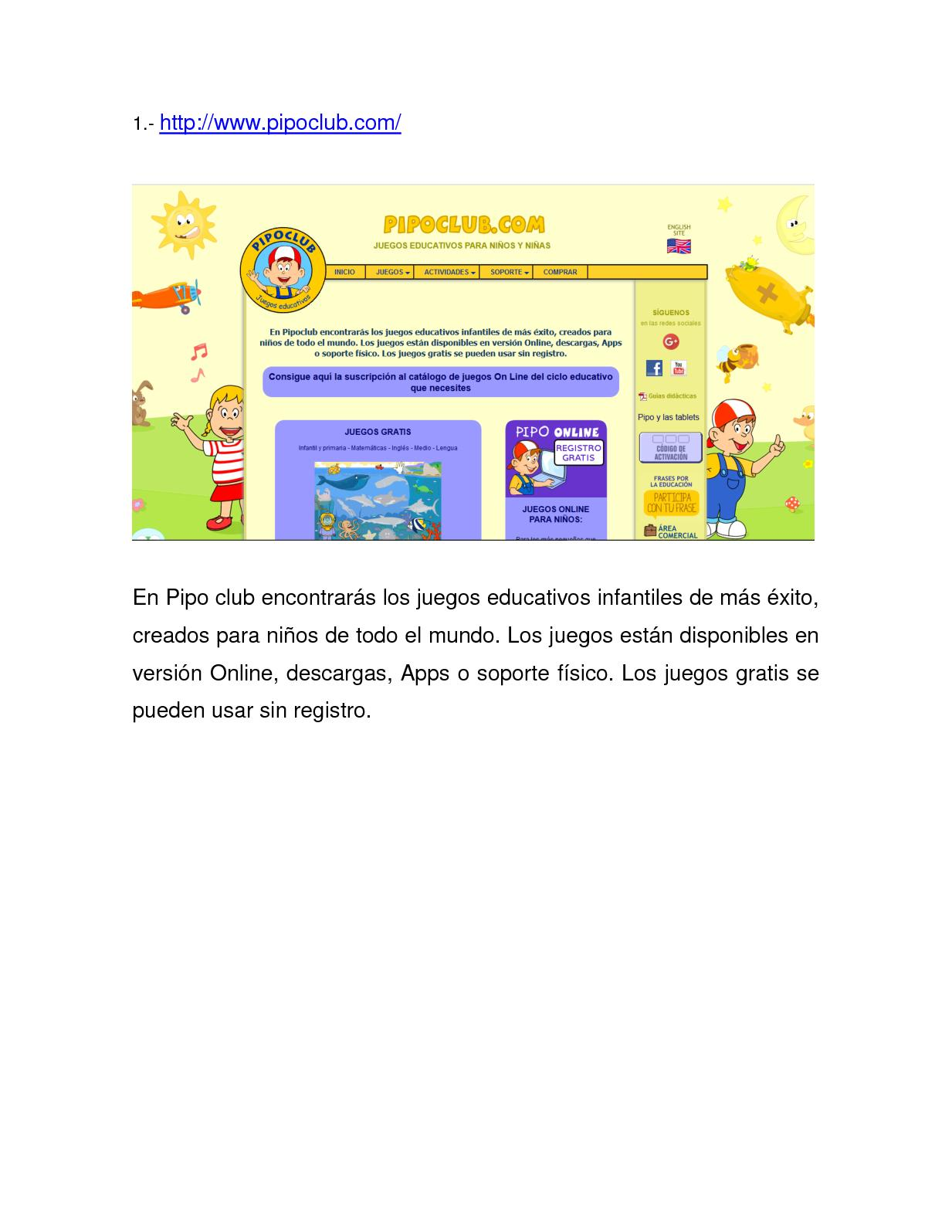 Juegos Educativos Pipo Partes De Un Lector Spanish