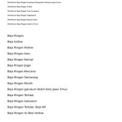 Supplier Baja Ringan Di Semarang Calameo Distributor Surabaya Tlp 0821 3233 9545