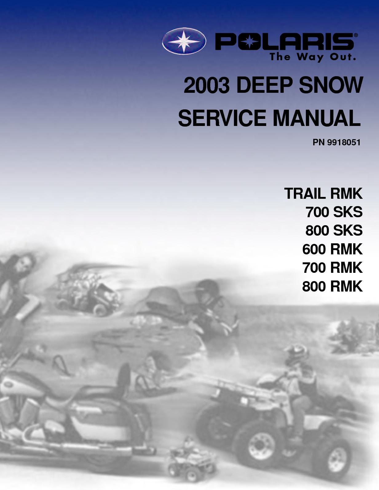 hight resolution of 2003 polaris 800 rmk 151 snowmobile service repair manual