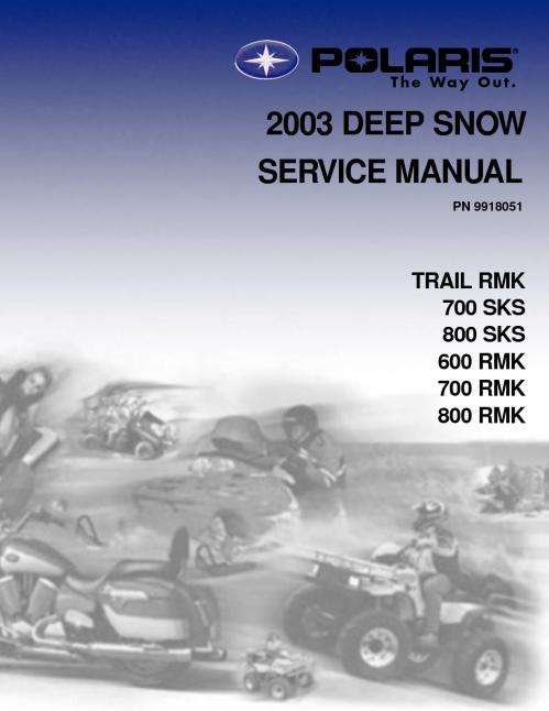 small resolution of 2003 polaris 800 rmk 151 snowmobile service repair manual
