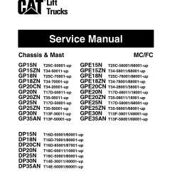 caterpillar cat gp35n forklift lift trucks service repair manual snt13f 50001 and up [ 1233 x 1595 Pixel ]