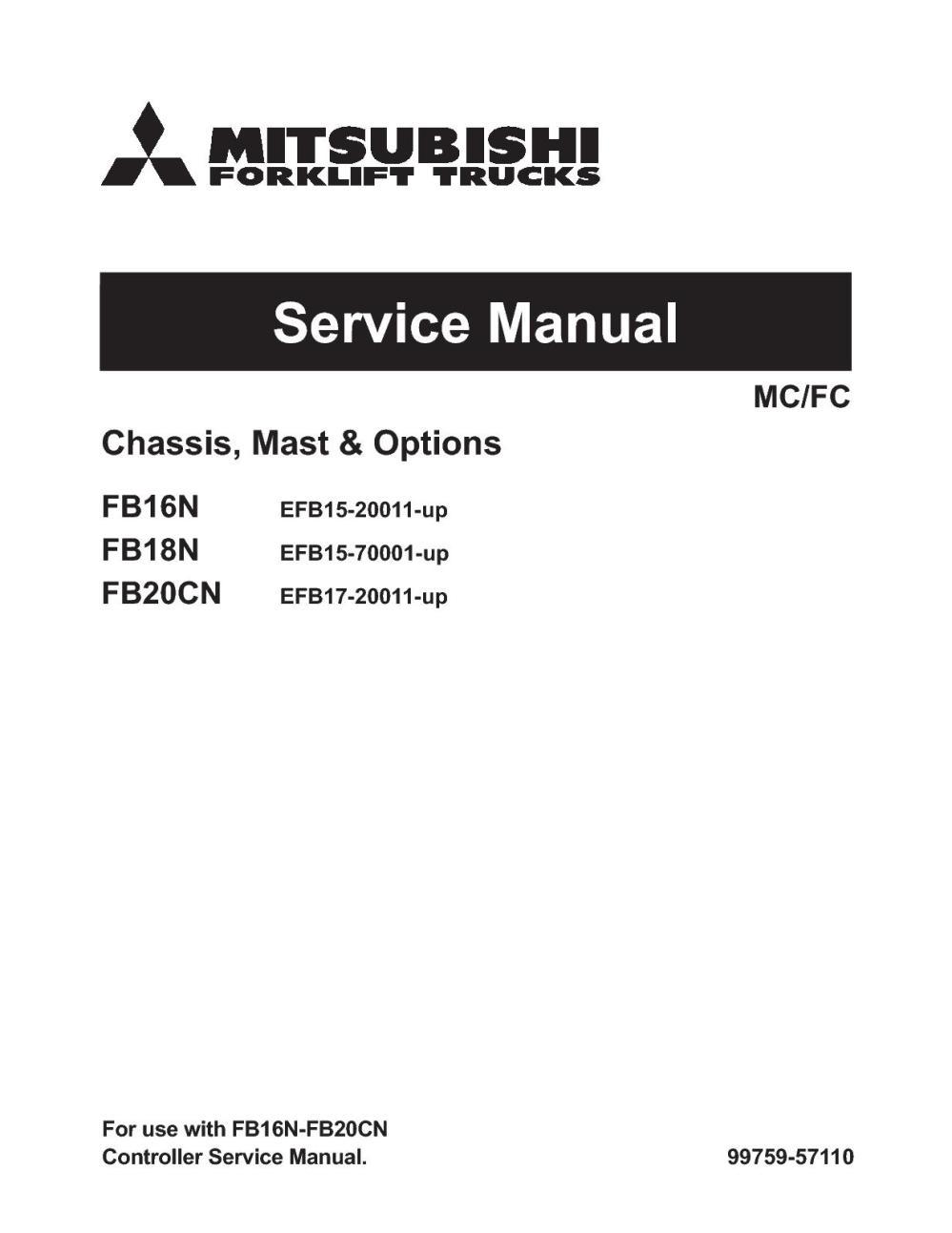 medium resolution of mitsubishi fb16n forklift trucks service repair manual snefb15 20011 up