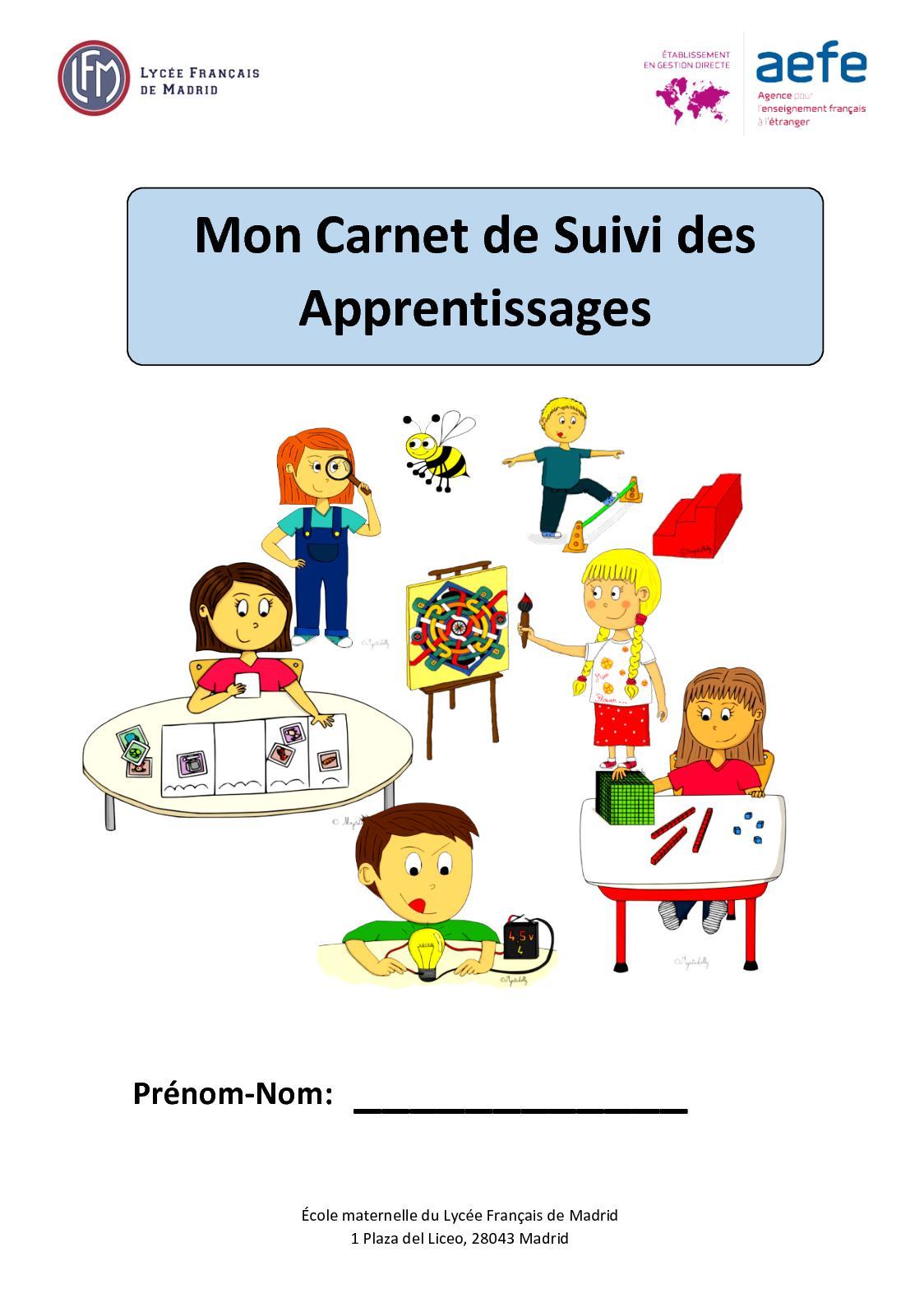 Carnet De Suivi Des Apprentissages : carnet, suivi, apprentissages, Calaméo