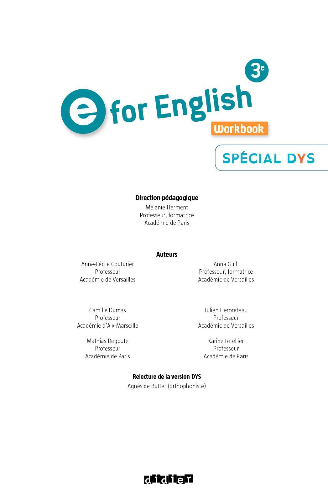 E For English 3e : english, English, Cahier, Extrait, CALAMEO, Downloader