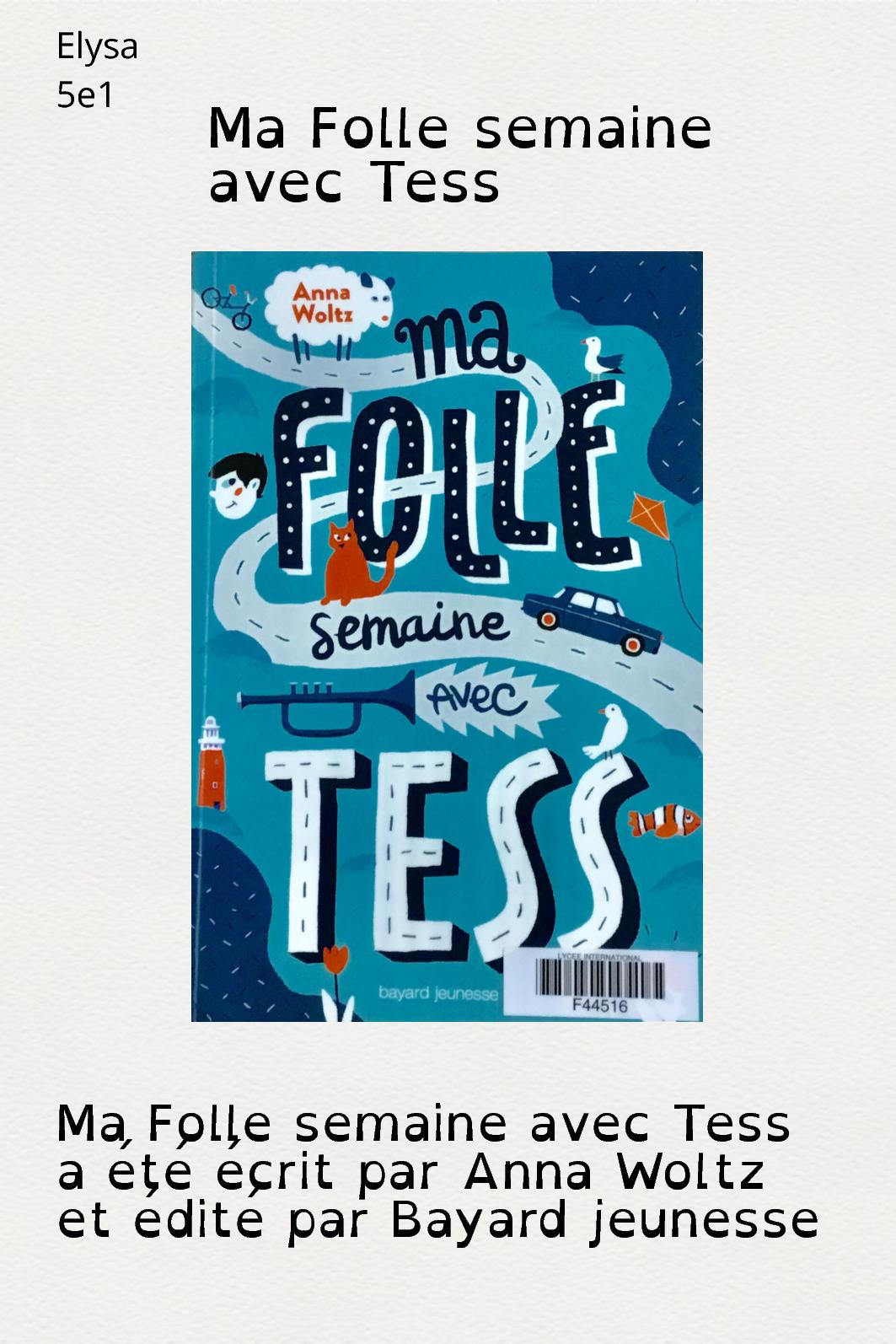 Ma Folle Semaine Avec Tess : folle, semaine, Calaméo, Elysa, Présente, Folle, Semaine, Tess