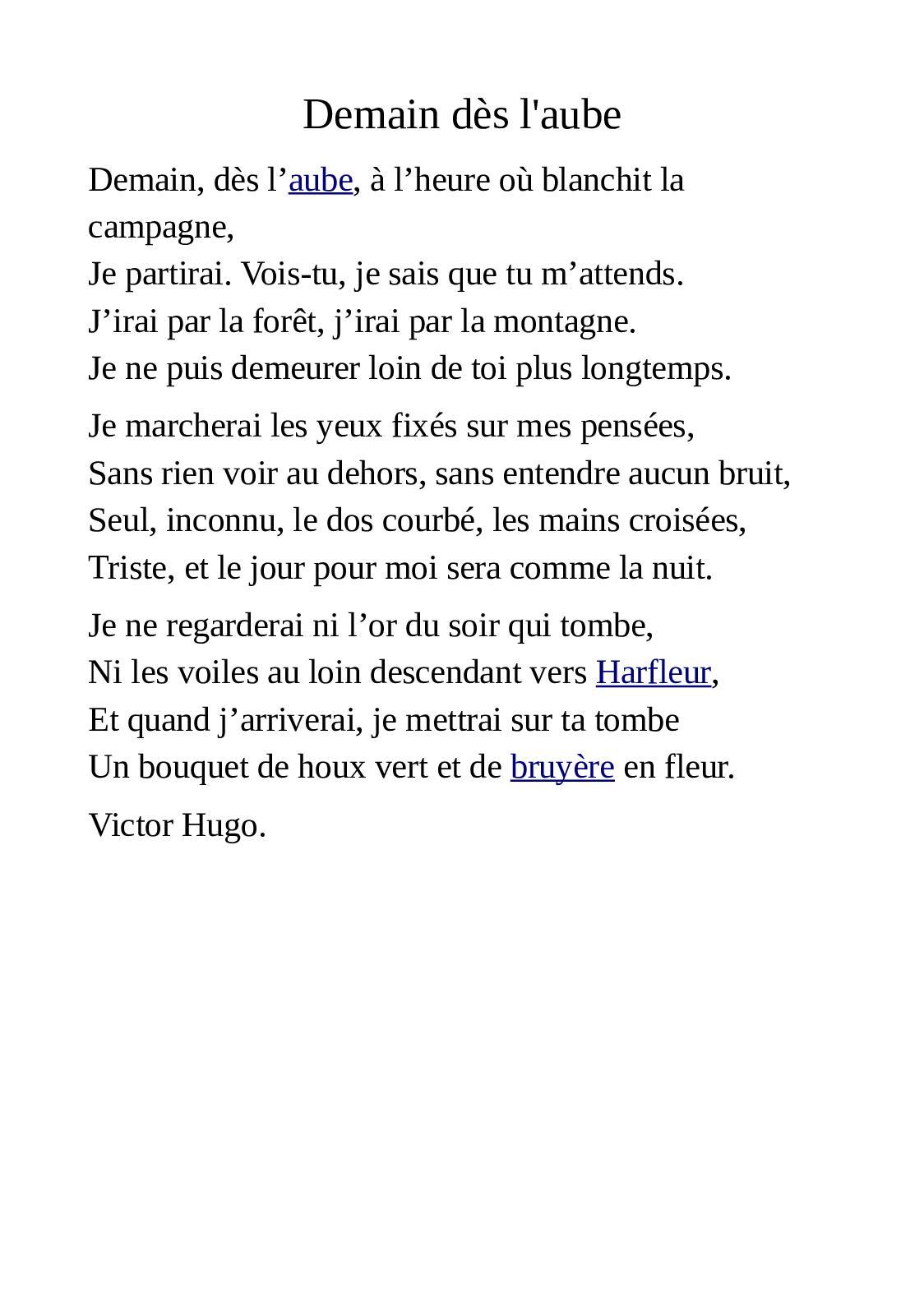Demain Des L'aube Victor Hugo : demain, l'aube, victor, Calaméo, Demain, L'aube, Victor, (1847)