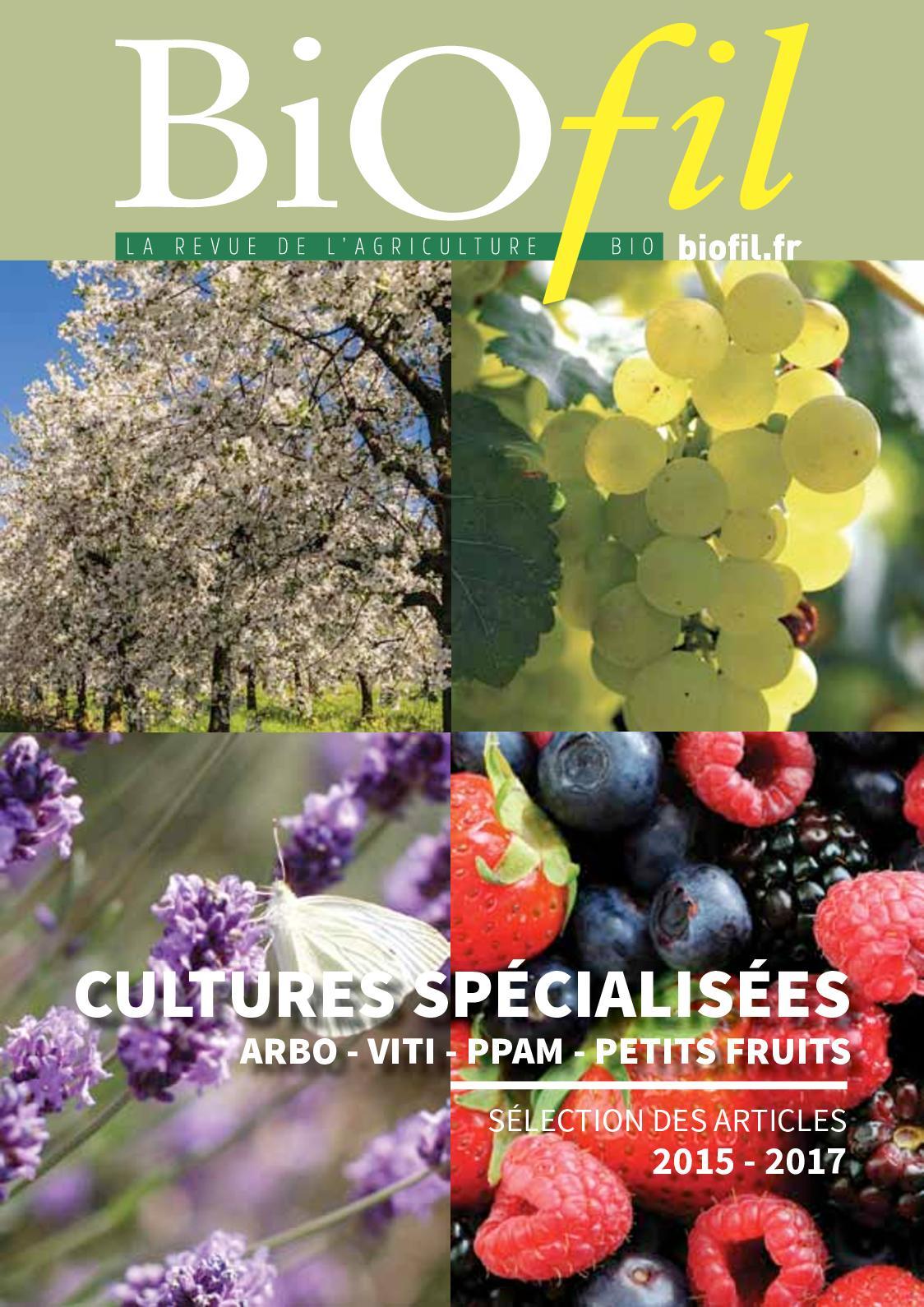 recueil cultures specialisees biofil