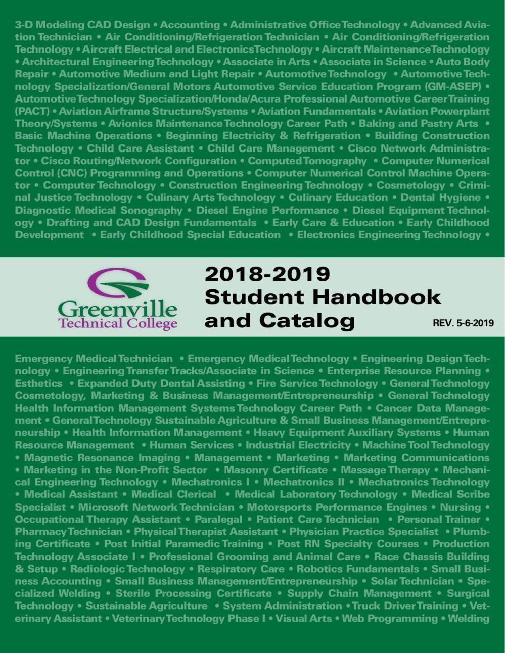 medium resolution of 2018 catalog and student handbook