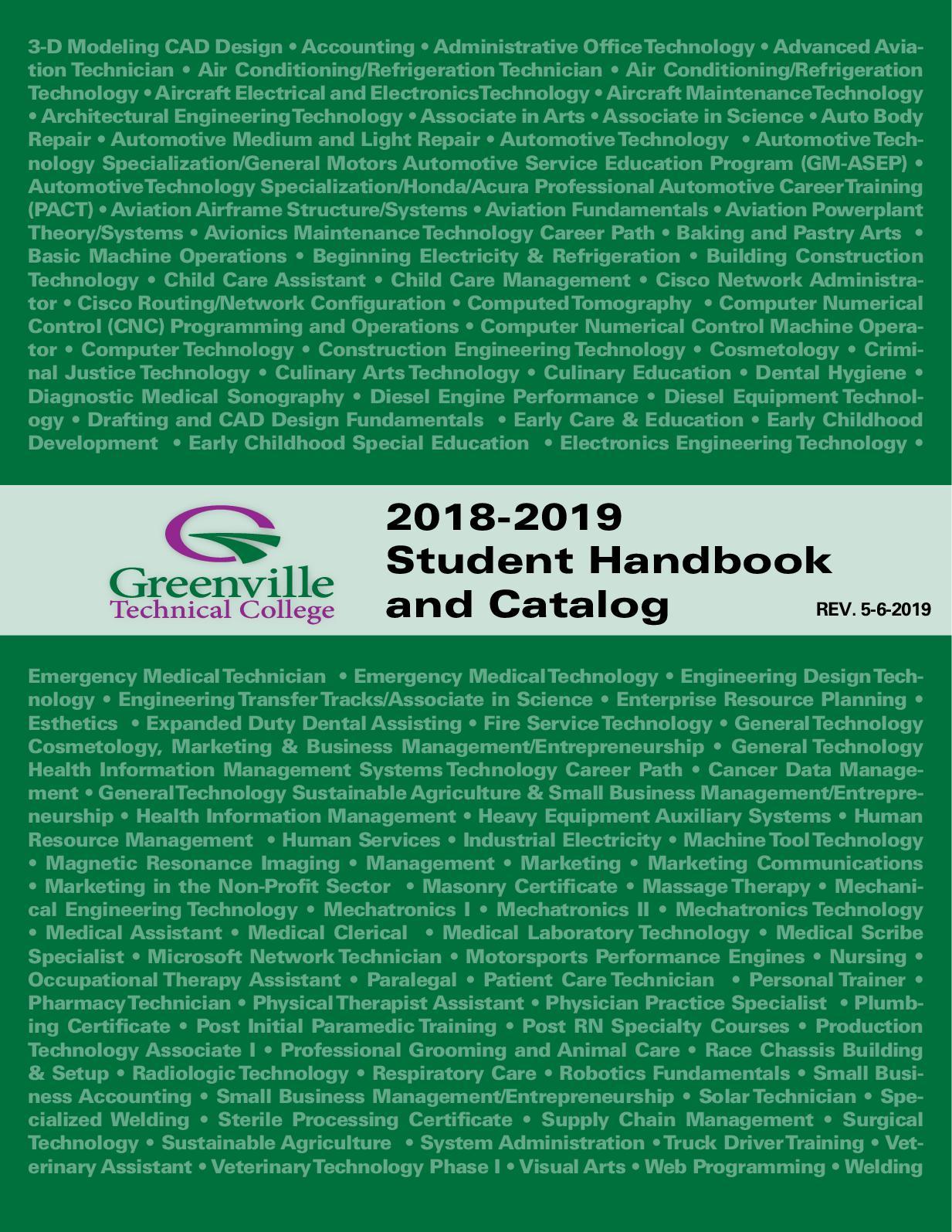 hight resolution of 2018 catalog and student handbook
