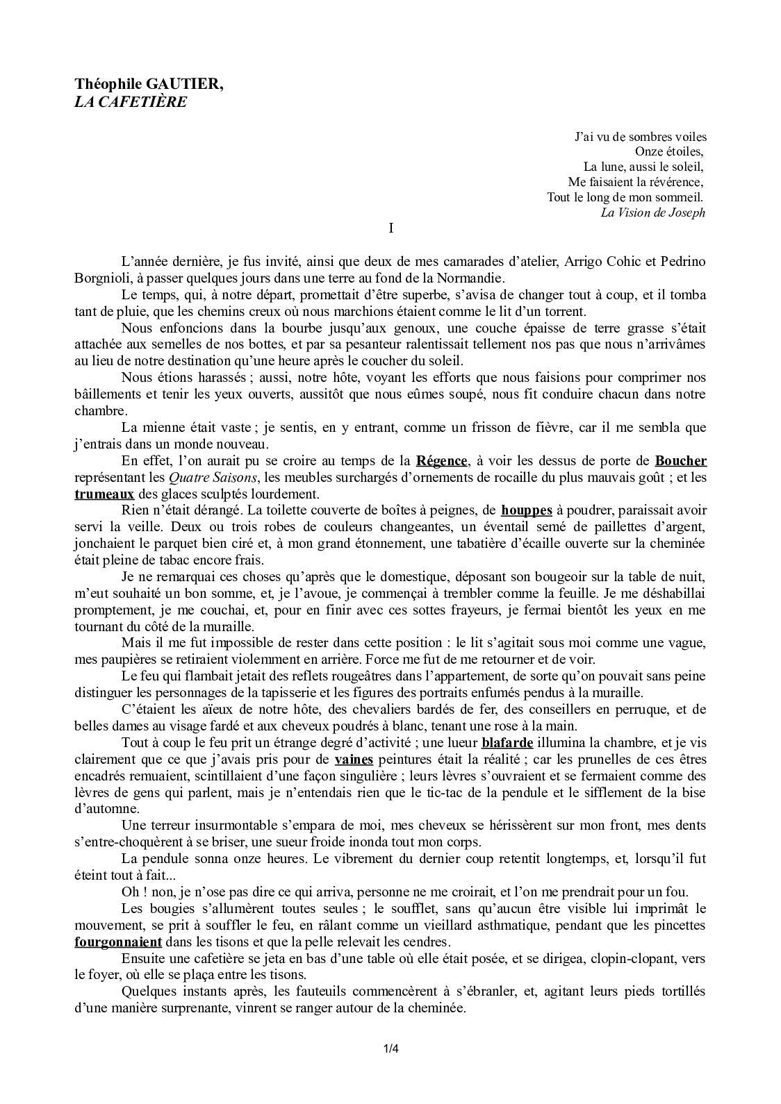 La Cafetière Théophile Gautier 4eme : cafetière, théophile, gautier, Calaméo, Cafetiere, Théophile, Gautier