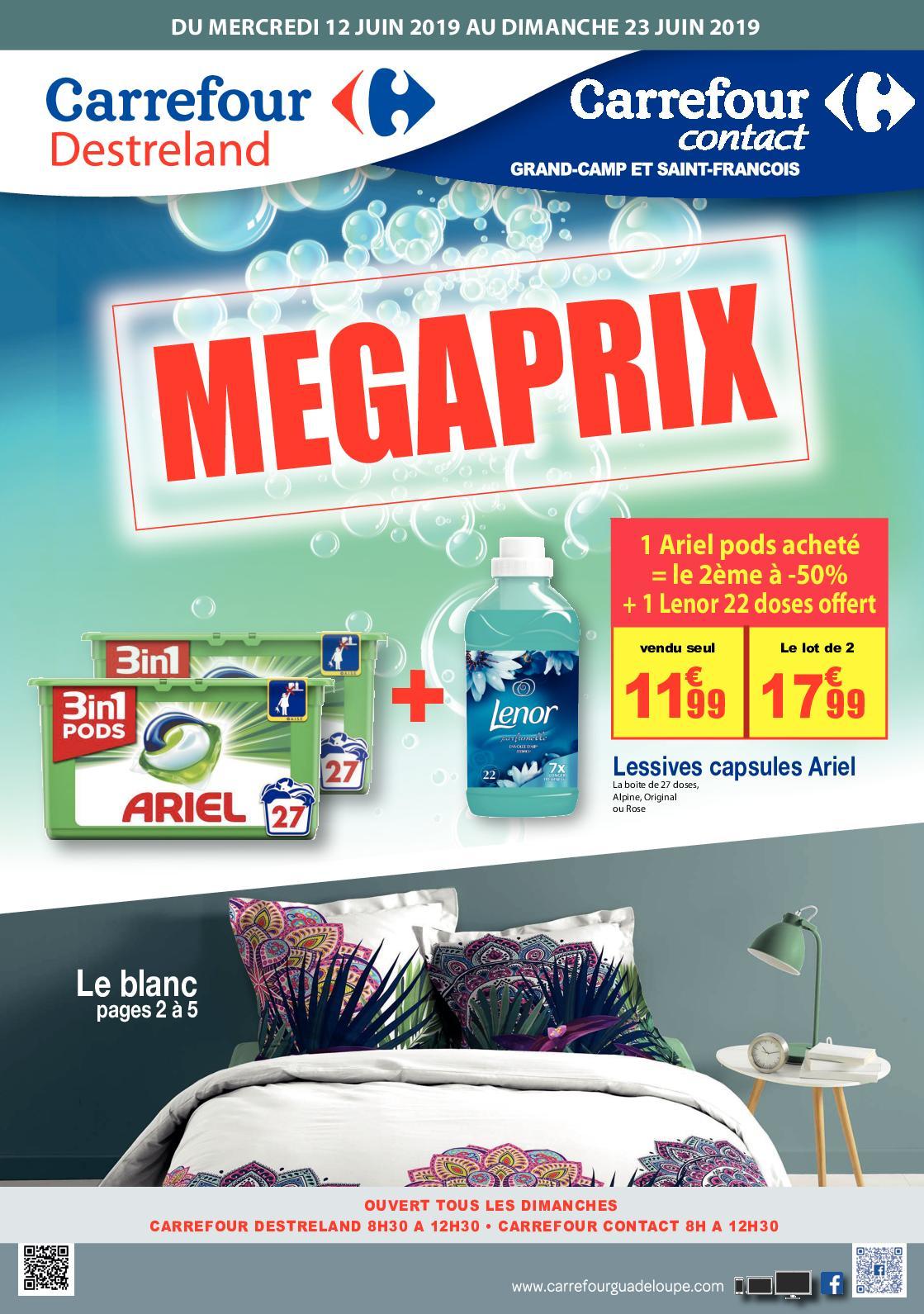 carrefour destreland megaprix catalogue
