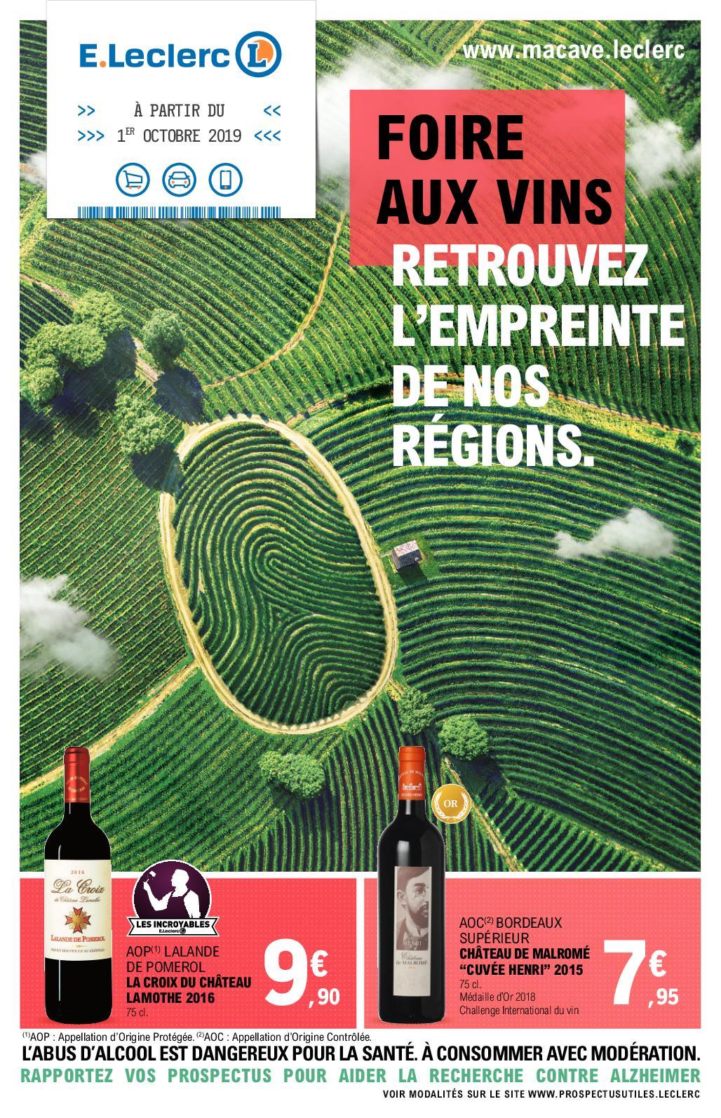 catalogue foire aux vins