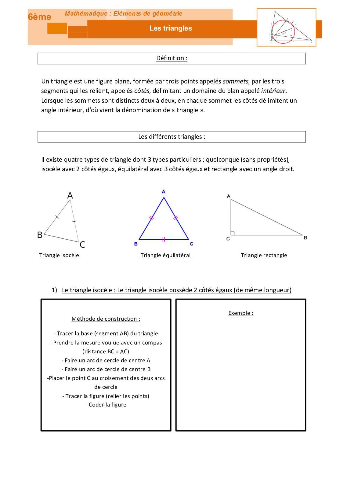 calameo geometrie les triangles