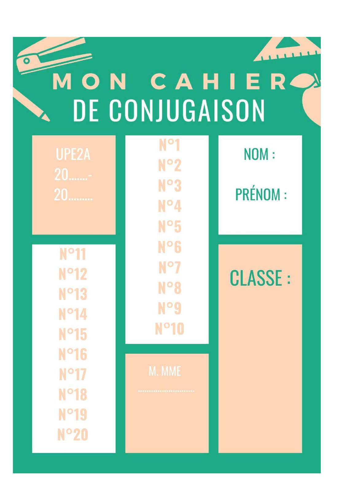 Je N'ai Pas Pu Conjugaison : conjugaison, Calaméo, Cahier, Conjugaison