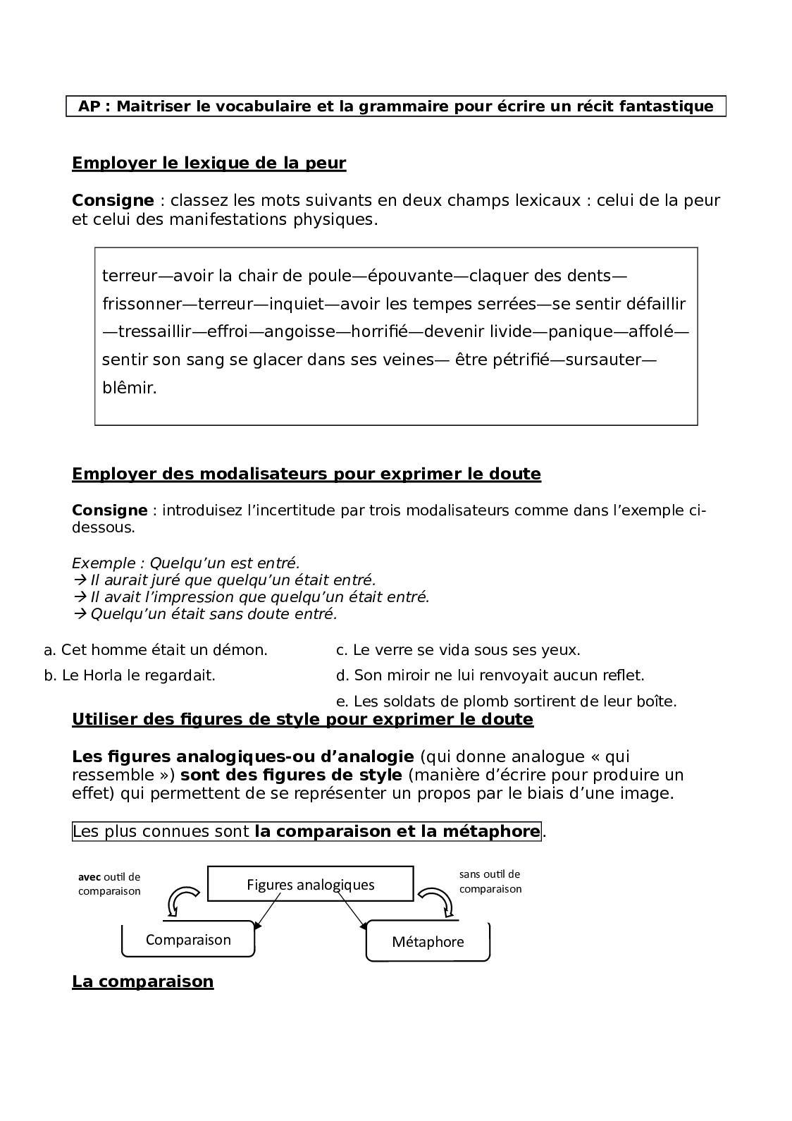 Exemple De Comparaison Figure De Style : exemple, comparaison, figure, style, Calaméo, Lexique, Grammaire, Fantastique