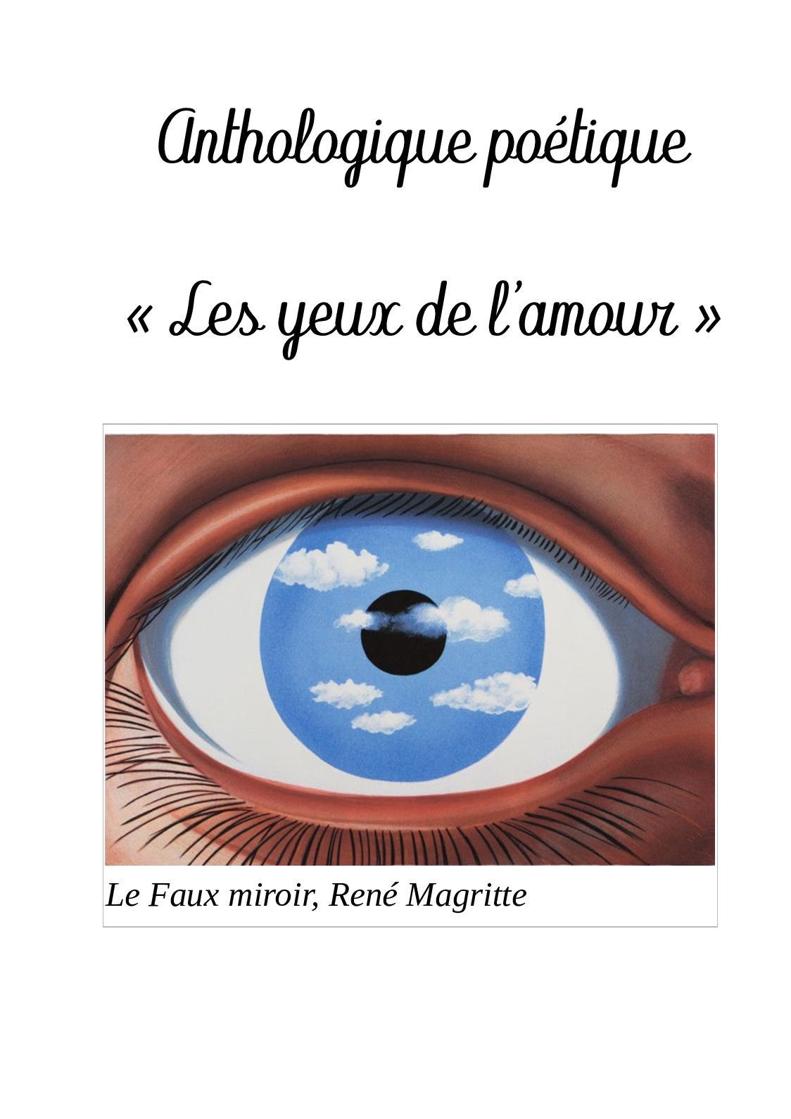 Les Yeux De L Amour : amour, Calaméo, Anthologie, L'amour