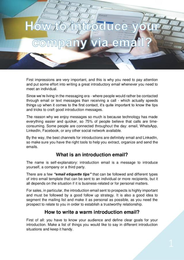 Calaméo - Introduce Your Company Via Email