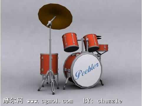 kitchen stool cabinets indianapolis 架子鼓3d模型_机械道具_机械模型_3d模型免费下载_摩尔网