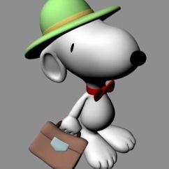 Kitchen Machine Small Tables 史努比 Snoopy Maya卡通模型_卡通角色_动画角色_3d模型免费下载_摩尔网