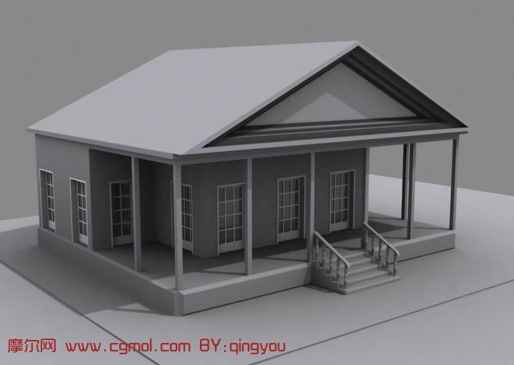 kitchen equipment back splash ideas 一所房屋,房子3d模型_国外建筑_建筑模型_3d模型免费下载_摩尔网