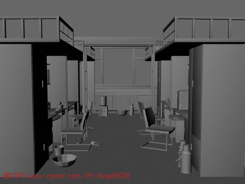 little girl kitchen sets bimby robot 学生宿舍场景,maya模型_现代场景_场景模型_3d模型免费下载_摩尔网