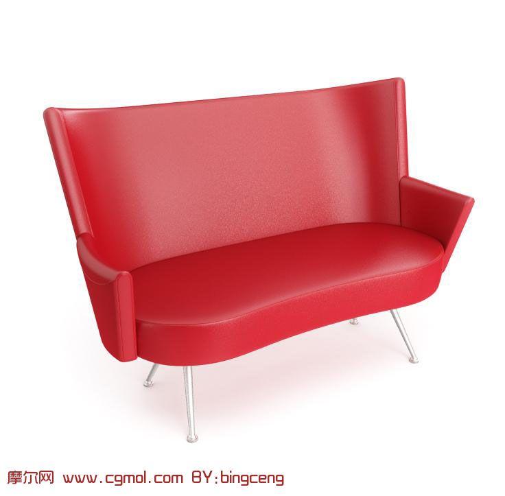 round black kitchen table mdf cabinets 红色双人沙发椅3d模型_室内家具_室内模型_3d模型免费下载_摩尔网