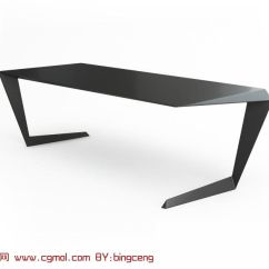 Pub Kitchen Table Light Pendants 超个性黑色长桌,桌子3d模型_室内家具_室内模型_3d模型免费下载_摩尔网