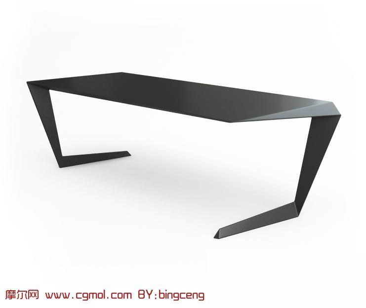 pub kitchen table high end sinks 超个性黑色长桌,桌子3d模型_室内家具_室内模型_3d模型免费下载_摩尔网