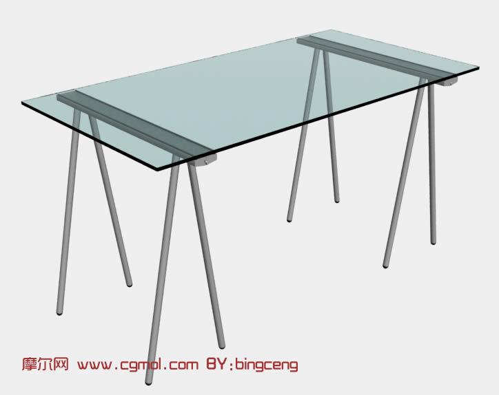 long kitchen tables light table 带支架的玻璃长桌3d模型_室内家具_室内模型_3d模型免费下载_摩尔网