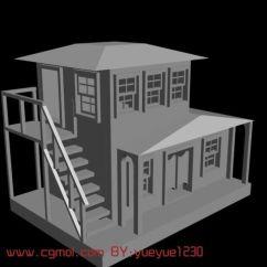 Cabin Kitchen Decor Unfinished Cabinet Doors House,房子,双层小楼3d模型_中式建筑_建筑模型_3d模型免费下载_摩尔网