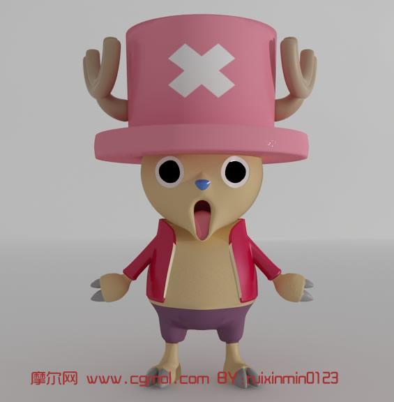 海賊王喬巴.卡通動漫角色3D模型_卡通角色_動畫角色_3D模型免費下載_摩爾網